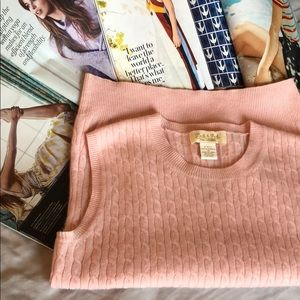 NEW 100% Cashmere Light Pink Pullover Vest Sweater